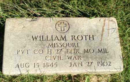 ROTH (VETERAN UNION), WILLIAM - Greene County, Arkansas | WILLIAM ROTH (VETERAN UNION) - Arkansas Gravestone Photos
