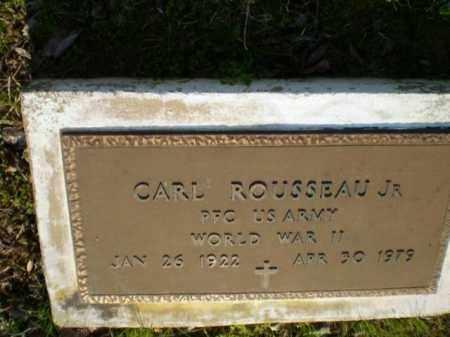 ROUSSEAU, JR.  (VETERAN WWII), CARL - Greene County, Arkansas   CARL ROUSSEAU, JR.  (VETERAN WWII) - Arkansas Gravestone Photos