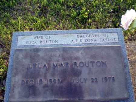 TAYLOR ROUTON, LELA MAE - Greene County, Arkansas | LELA MAE TAYLOR ROUTON - Arkansas Gravestone Photos