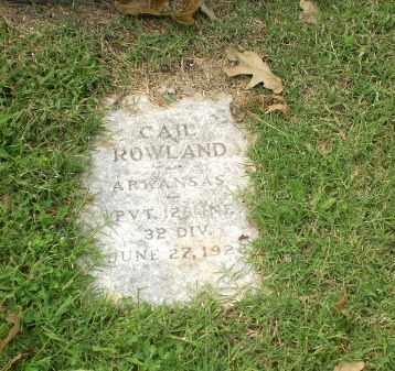 ROWLAND  (VETERAN), R. CAIL - Greene County, Arkansas | R. CAIL ROWLAND  (VETERAN) - Arkansas Gravestone Photos