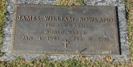 ROWLAND (VETERAN WWII), JAMES WILLIAM - Greene County, Arkansas   JAMES WILLIAM ROWLAND (VETERAN WWII) - Arkansas Gravestone Photos