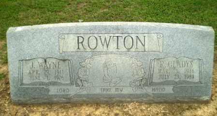 ROWTON, J.WAYNE - Greene County, Arkansas | J.WAYNE ROWTON - Arkansas Gravestone Photos
