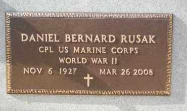 RUSAK (VETERAN WWII), DANIEL BERNARD - Greene County, Arkansas   DANIEL BERNARD RUSAK (VETERAN WWII) - Arkansas Gravestone Photos