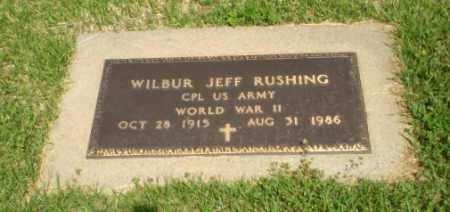 RUSHING  (VETERAN WWII), WILBUR JEFF - Greene County, Arkansas | WILBUR JEFF RUSHING  (VETERAN WWII) - Arkansas Gravestone Photos