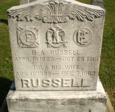 RUSSELL, IOLA - Greene County, Arkansas   IOLA RUSSELL - Arkansas Gravestone Photos