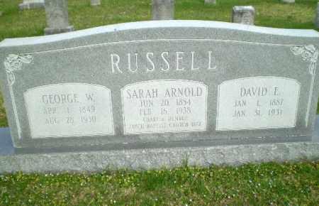 RUSSELL, GEORGE W - Greene County, Arkansas | GEORGE W RUSSELL - Arkansas Gravestone Photos