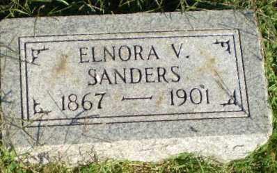 SANDERS, ELNORA V - Greene County, Arkansas   ELNORA V SANDERS - Arkansas Gravestone Photos