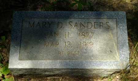SANDERS, MARY D - Greene County, Arkansas | MARY D SANDERS - Arkansas Gravestone Photos