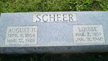 SCHEER, AUGUST H - Greene County, Arkansas   AUGUST H SCHEER - Arkansas Gravestone Photos