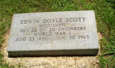 SCOTT  (VETERAN WWI), EDWIN DOYLE - Greene County, Arkansas   EDWIN DOYLE SCOTT  (VETERAN WWI) - Arkansas Gravestone Photos