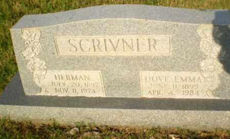 SCRIVNER, DOVE EMMA - Greene County, Arkansas | DOVE EMMA SCRIVNER - Arkansas Gravestone Photos