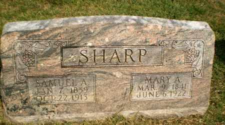 SHARP, SAMUEL A - Greene County, Arkansas   SAMUEL A SHARP - Arkansas Gravestone Photos