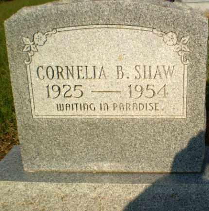SHAW, CORNELIA B - Greene County, Arkansas | CORNELIA B SHAW - Arkansas Gravestone Photos