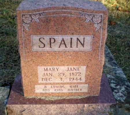 SPAIN, MARY JANE - Greene County, Arkansas | MARY JANE SPAIN - Arkansas Gravestone Photos