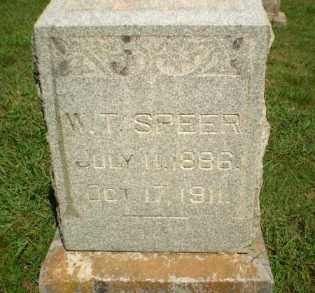 SPEER, W.T. - Greene County, Arkansas | W.T. SPEER - Arkansas Gravestone Photos