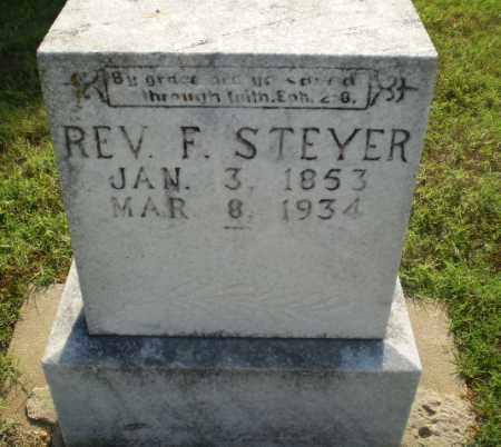 STEYER, REV. F - Greene County, Arkansas | REV. F STEYER - Arkansas Gravestone Photos