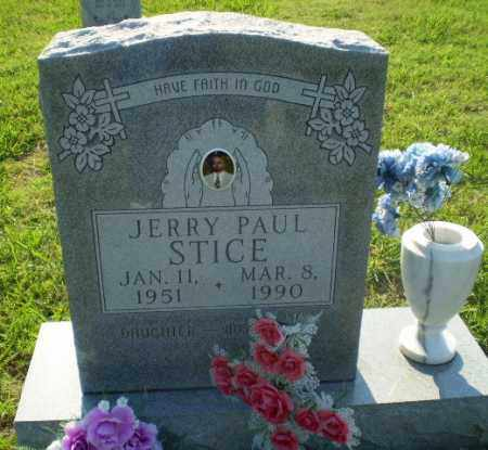STICE, JERRY PAUL - Greene County, Arkansas   JERRY PAUL STICE - Arkansas Gravestone Photos