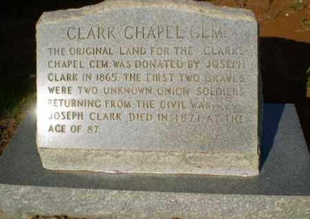 * CLARK CHAPEL PLAQUE,  - Greene County, Arkansas |  * CLARK CHAPEL PLAQUE - Arkansas Gravestone Photos