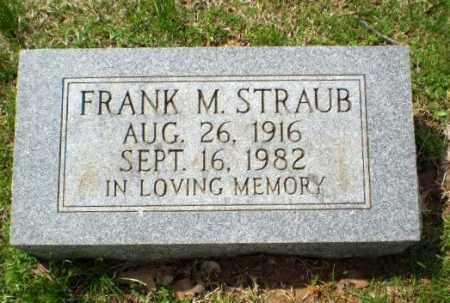 STRAUB, FRANK M - Greene County, Arkansas | FRANK M STRAUB - Arkansas Gravestone Photos
