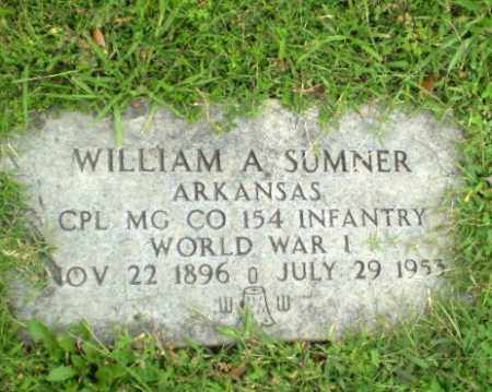 SUMNER  (VETERAN WWI), WILLIAM A - Greene County, Arkansas | WILLIAM A SUMNER  (VETERAN WWI) - Arkansas Gravestone Photos