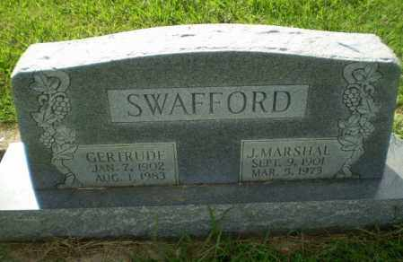 SWAFFORD, J. MARSHAL - Greene County, Arkansas | J. MARSHAL SWAFFORD - Arkansas Gravestone Photos