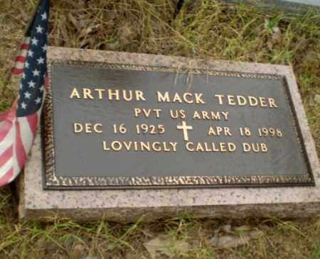 "TEDDER  (VETERAN), ARTHUR MACK ""DUB"" - Greene County, Arkansas | ARTHUR MACK ""DUB"" TEDDER  (VETERAN) - Arkansas Gravestone Photos"