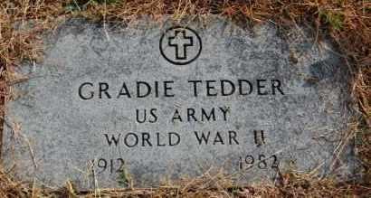 TEDDER (VETERAN WWII), GRADIE - Greene County, Arkansas | GRADIE TEDDER (VETERAN WWII) - Arkansas Gravestone Photos