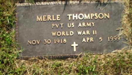 THOMPSON  (VETERAN WWII), MERLE - Greene County, Arkansas   MERLE THOMPSON  (VETERAN WWII) - Arkansas Gravestone Photos