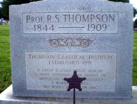 THOMPSON  (VETERAN CSA), PROF R.S. - Greene County, Arkansas | PROF R.S. THOMPSON  (VETERAN CSA) - Arkansas Gravestone Photos