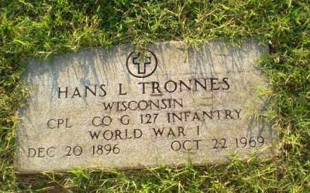 TRONNES (VETERAN WWI), HANS L - Greene County, Arkansas | HANS L TRONNES (VETERAN WWI) - Arkansas Gravestone Photos