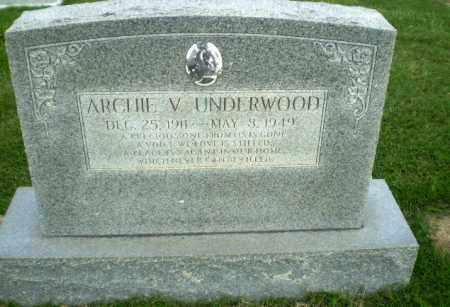 UNDERWOOD, ARCHIE V - Greene County, Arkansas   ARCHIE V UNDERWOOD - Arkansas Gravestone Photos