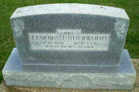 UNDERWOOD, ELNORA - Greene County, Arkansas | ELNORA UNDERWOOD - Arkansas Gravestone Photos