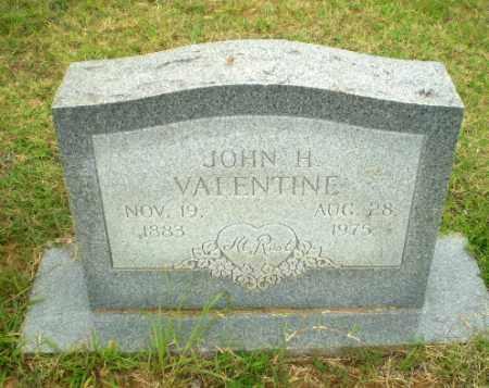 VALENTINE, JOHN H - Greene County, Arkansas   JOHN H VALENTINE - Arkansas Gravestone Photos