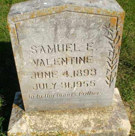 VALENTINE, SAMUEL E - Greene County, Arkansas | SAMUEL E VALENTINE - Arkansas Gravestone Photos