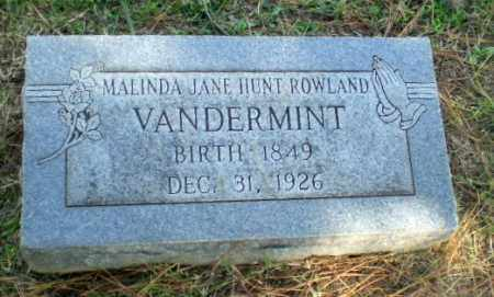 VANDERMINT, MALINDA JANE - Greene County, Arkansas | MALINDA JANE VANDERMINT - Arkansas Gravestone Photos