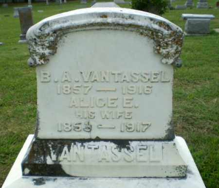 VANTASSEL, ALICE E - Greene County, Arkansas | ALICE E VANTASSEL - Arkansas Gravestone Photos