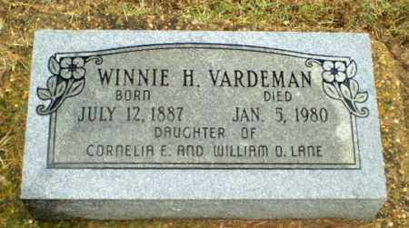 VARDEMAN, WINNIE H - Greene County, Arkansas | WINNIE H VARDEMAN - Arkansas Gravestone Photos