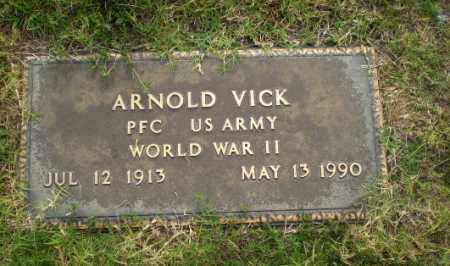 VICK  (VETERAN WWII), ARNOLD - Greene County, Arkansas | ARNOLD VICK  (VETERAN WWII) - Arkansas Gravestone Photos