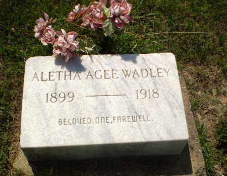 AGEE WADLEY, ALETHA - Greene County, Arkansas | ALETHA AGEE WADLEY - Arkansas Gravestone Photos