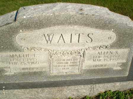 WAITS, ALLEN S - Greene County, Arkansas | ALLEN S WAITS - Arkansas Gravestone Photos