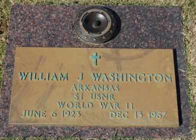 WASHINGTON (VETERAN WWII), WILLIAM J - Greene County, Arkansas   WILLIAM J WASHINGTON (VETERAN WWII) - Arkansas Gravestone Photos