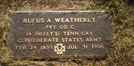 WEATHERLY  (VETERAN CSA), RUFUS - Greene County, Arkansas   RUFUS WEATHERLY  (VETERAN CSA) - Arkansas Gravestone Photos
