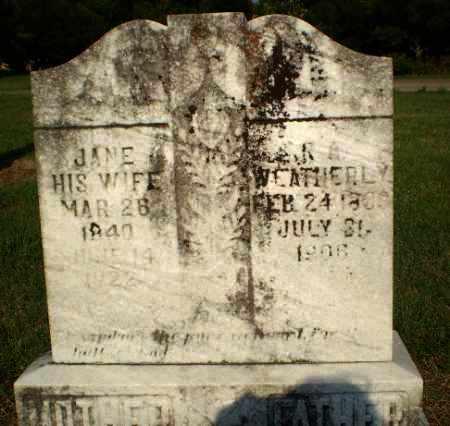 WEATHERLY, JANE - Greene County, Arkansas   JANE WEATHERLY - Arkansas Gravestone Photos