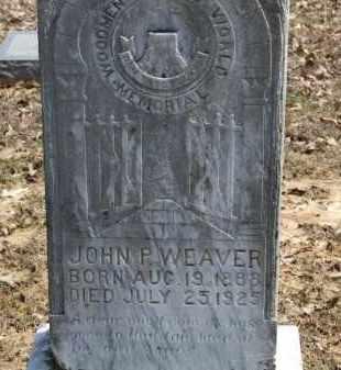 WEAVER, JOHN P. - Greene County, Arkansas   JOHN P. WEAVER - Arkansas Gravestone Photos
