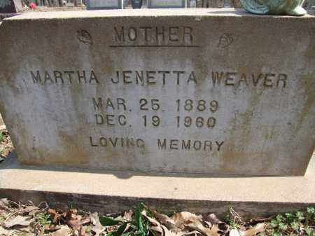 WEAVER, MARTHA JENETTA - Greene County, Arkansas | MARTHA JENETTA WEAVER - Arkansas Gravestone Photos
