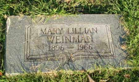 WEINMAN, MARY LILLIAN - Greene County, Arkansas | MARY LILLIAN WEINMAN - Arkansas Gravestone Photos