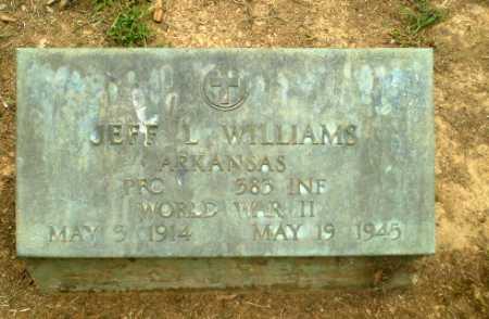 WILLIAMS  (VETERAN WWII), JEFF L - Greene County, Arkansas | JEFF L WILLIAMS  (VETERAN WWII) - Arkansas Gravestone Photos