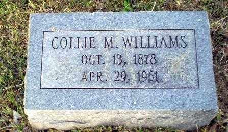 WILLIAMS, COLLIE M - Greene County, Arkansas | COLLIE M WILLIAMS - Arkansas Gravestone Photos