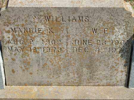 WILLIAMS, MANDIE K. - Greene County, Arkansas | MANDIE K. WILLIAMS - Arkansas Gravestone Photos