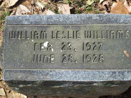 WILLIAMS, WILLIAM LESLIE - Greene County, Arkansas   WILLIAM LESLIE WILLIAMS - Arkansas Gravestone Photos